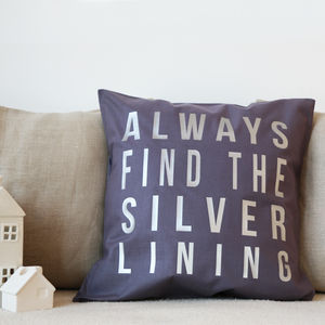 Silver Lining Cushion - bedroom