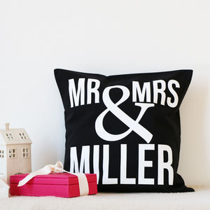 Mr And Mrs Ampersand Cushion - cushions