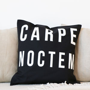 'Carpe Noctem' Cushion - patterned cushions
