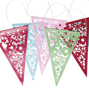 Colourful Lace Paper Bunting - decorative accessories