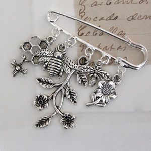 Save The Bees Brooch - women's jewellery