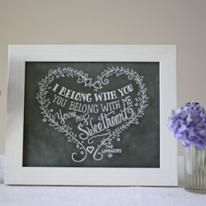 I Belong With You Print – Chalkboard Style