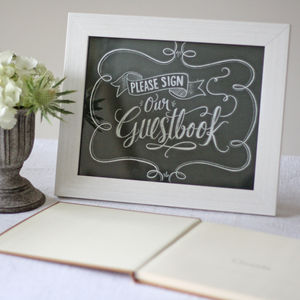 Please Sign Our Guest Book Chalkboard Style Print - chalkboard styling