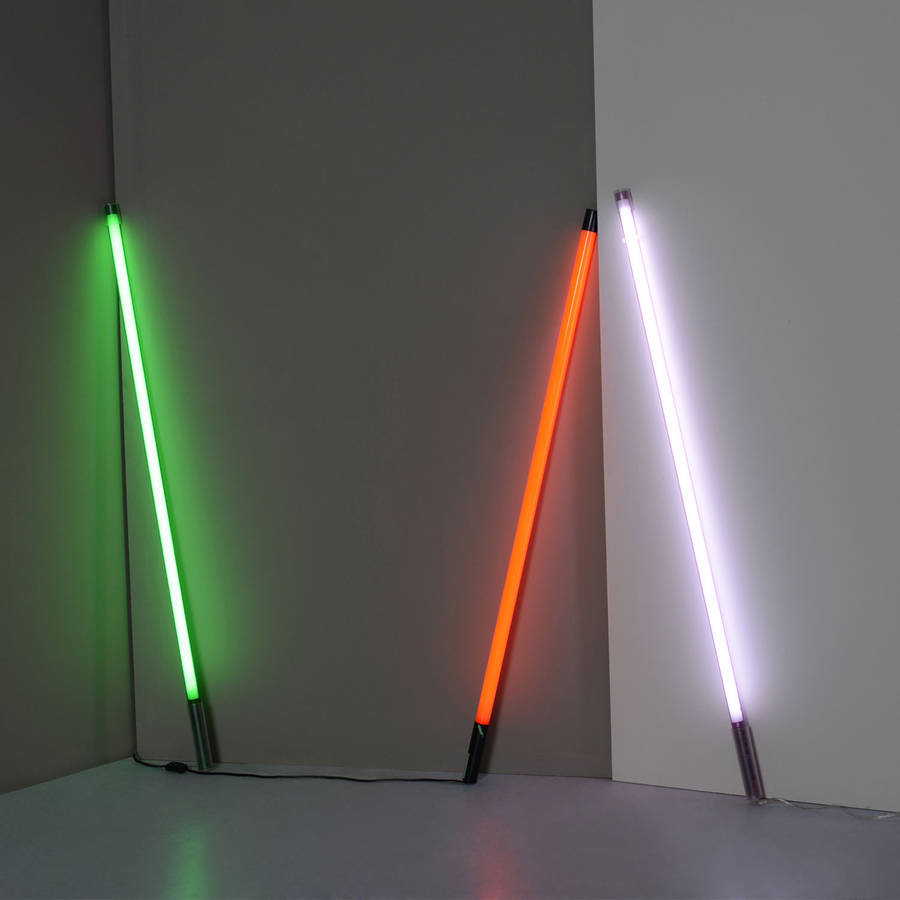 coloured neon tube light by i love retro. Black Bedroom Furniture Sets. Home Design Ideas