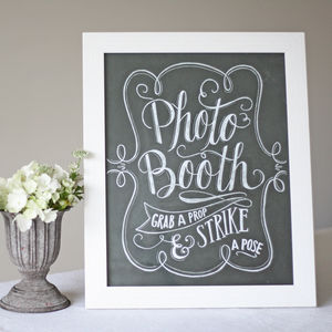 Photo Booth Print – Chalkboard Style - room decorations