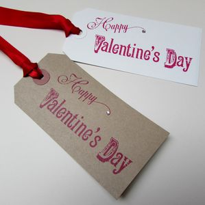 Pack Of Two Valentines Day Gift Tags