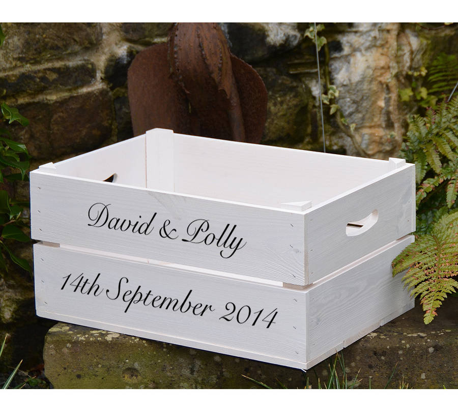 ... > PLANTABOX > PERSONALISED WEDDING GIFT CRATE WITH CALLIGRAPHY