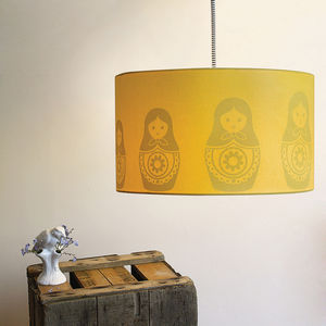 Babushka Silhouette Lampshade - lighting