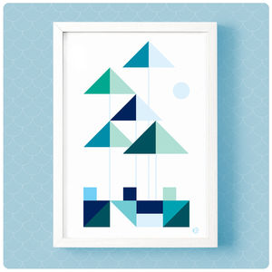 Geometric Breakers Print
