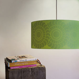Dahlia Silhouette Lampshade - lighting
