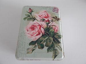 Trinket Tin With Rose Pattern