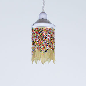 33% Off Vintage Glass Beaded Shade - lamp bases & shades