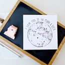 'I Love You To The Moon…' Card