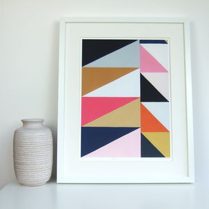 Geometric Triangle Giclee Print - modern & abstract
