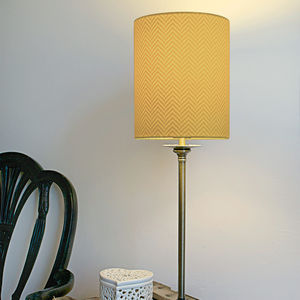 Herringbone Silhouette Lampshade - lighting