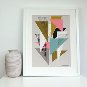 Simple Shapes No4 Giclee Print - modern & abstract