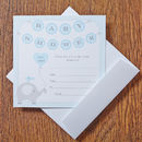 Baby Shower Blue Invitations