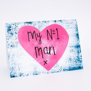 'My Number One Man' Card
