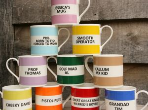 Personalised Fine Bone China Mug - gifts for him
