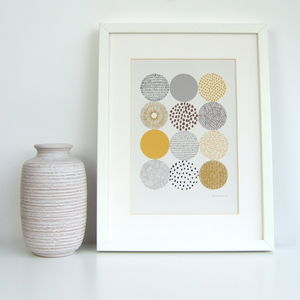 Circles Giclee Print - contemporary art