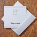 Baby Pink Thank You Cards