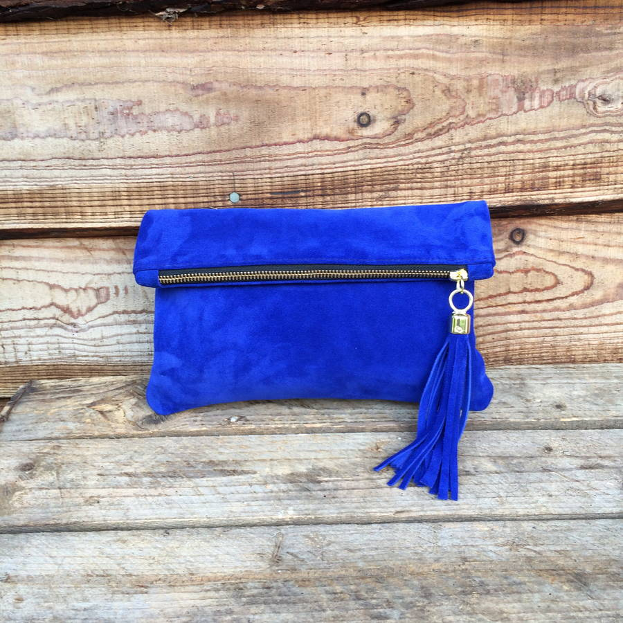 Royal Blue Clutch Bag Suede