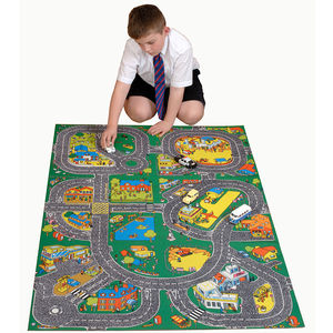 Child's Roadway Floor Rug