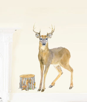 Deer Fabric Wall Stickers