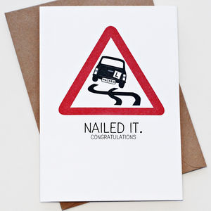 'Nailed It' Driving Test Card