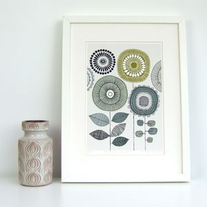 Poster Flowers No4 Giclee Print