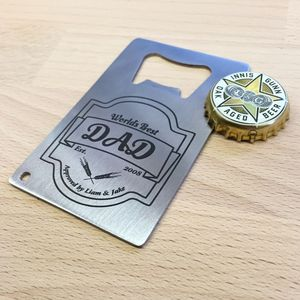 Best Dad Bottle Opener Credit Card - drink & barware