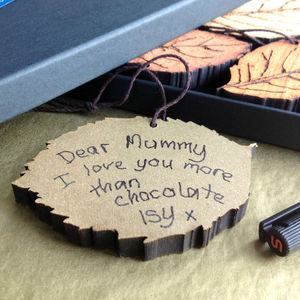 Message To Mum Boxed Leaf Decoration - wedding thank you gifts
