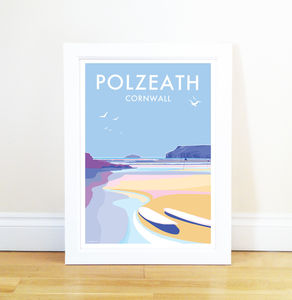 Polzeath Vintage Style Seaside Poster