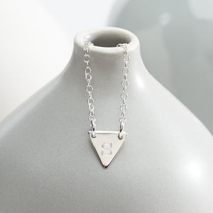 Personalised Silver Flag Necklace - necklaces & pendants