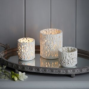 Tangled Web Tea Light Holder - votives & tea light holders
