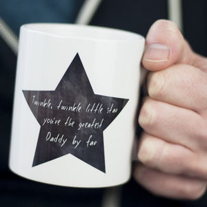 Daddy Star Mug - cups & saucers