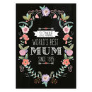 Personalised Floral Wreath Print