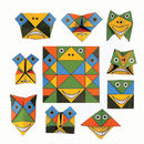 Set Of Ten Funny Face Origami Puzzle And Writing Paper