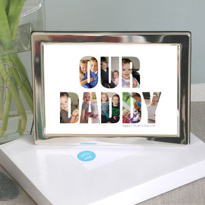Framed Personalised 'Our Daddy' Photograph Print