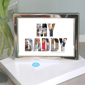 Framed Personalised 'My Daddy' Photograph Print