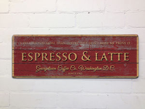 Vintage Style Coffee Shop Kitchen Sign - art & pictures