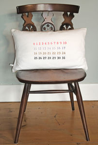 Cotton Numbers Print Oblong Cushion Cover