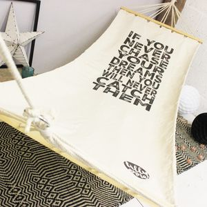 Personalised Quote Hammock - outdoor living