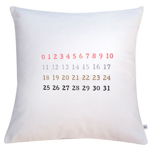 Cotton Numbers Print Cushion Cover - patterned cushions