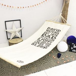 Personalised Dad Hammock - top 100 home gifts for dad