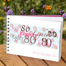 Personalised 80th Birthday Guest Book