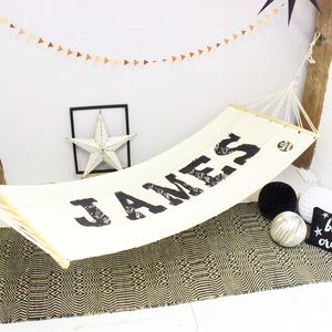 Personalised Name Hammock - garden furniture