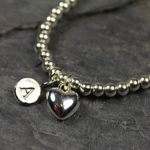 Personalised Child's Heart Bracelet - bracelets
