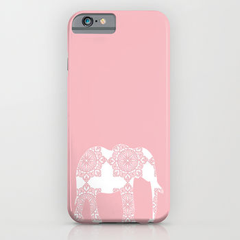Pink Damask Elephant For Phone Case