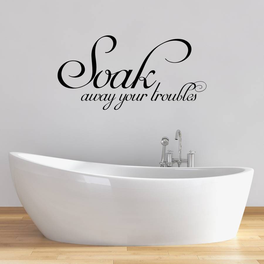 soak bathroom wall sticker by mirrorin